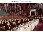 the treaty of rome march 1957