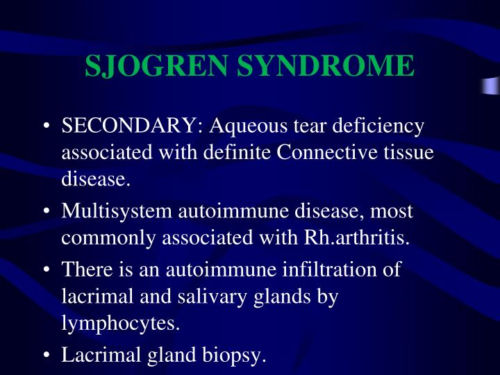 SJOGREN SYNDROME