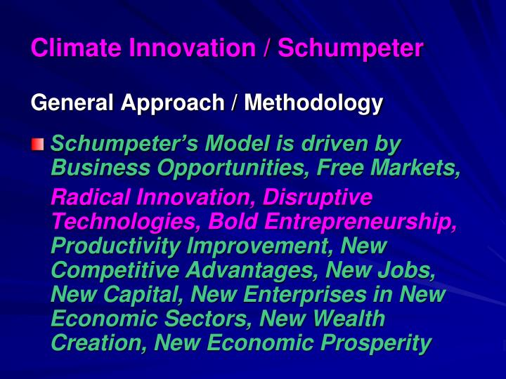 Climate Innovation / Schumpeter