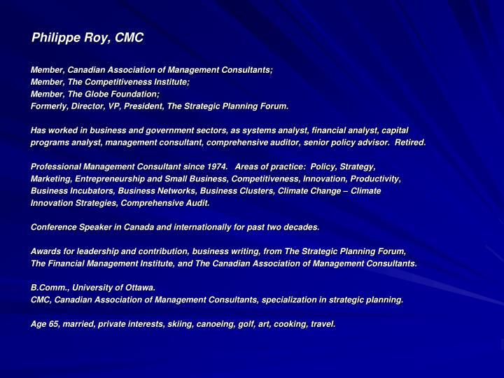Philippe Roy, CMC