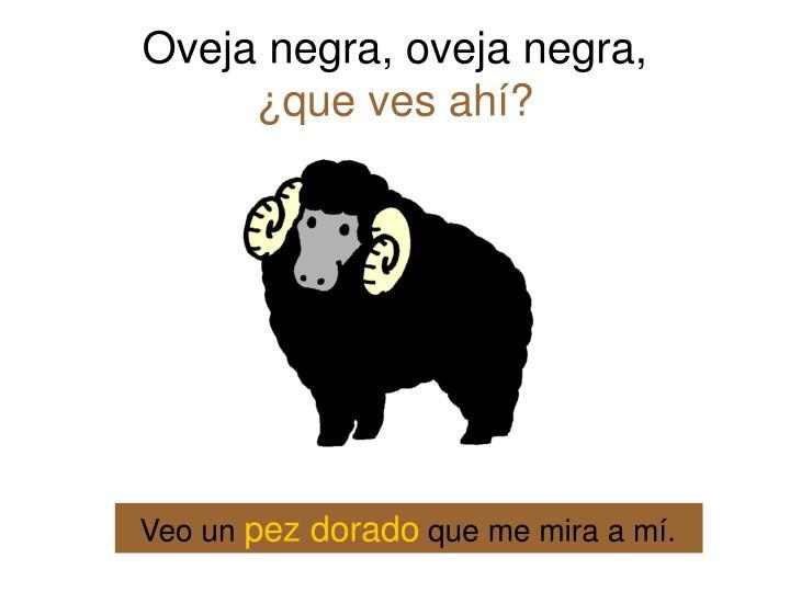 Oveja negra, oveja negra,