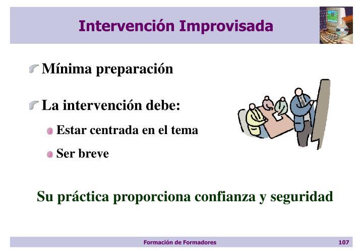 Intervención Improvisada