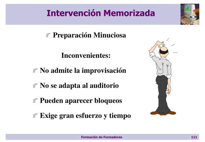 Intervención Memorizada