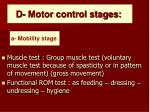 d motor control stages