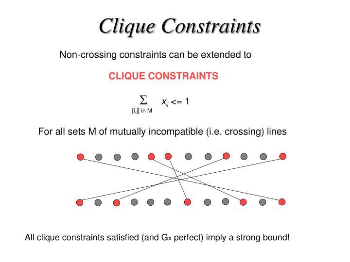Clique Constraints