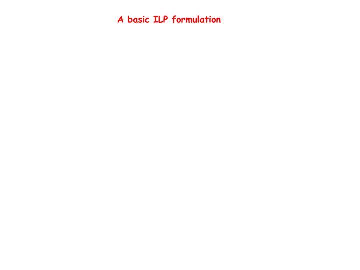 A basic ILP formulation