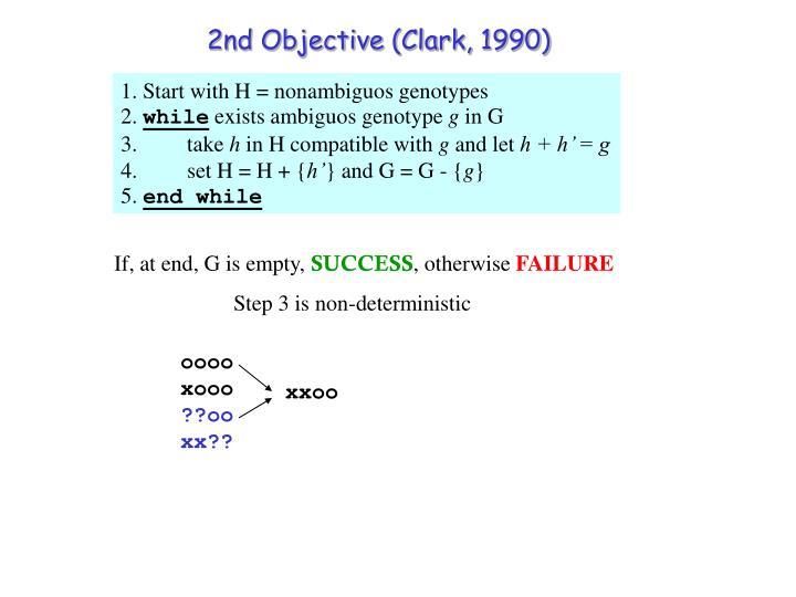 2nd Objective (Clark, 1990)