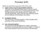 pronator drift
