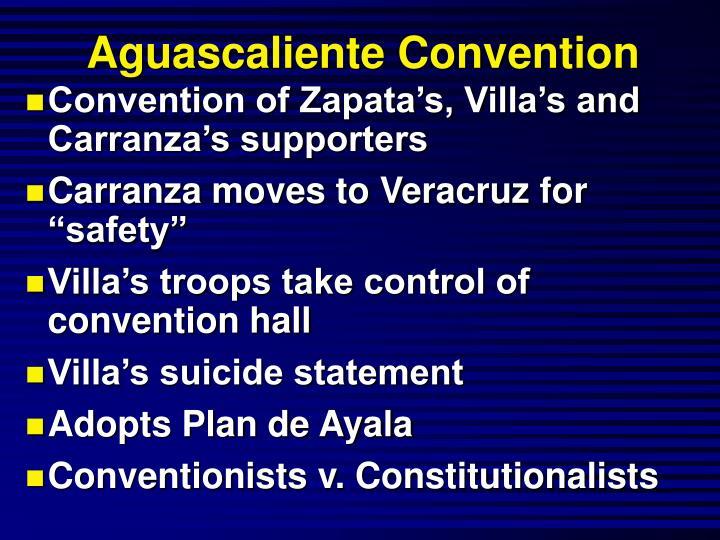 Aguascaliente Convention