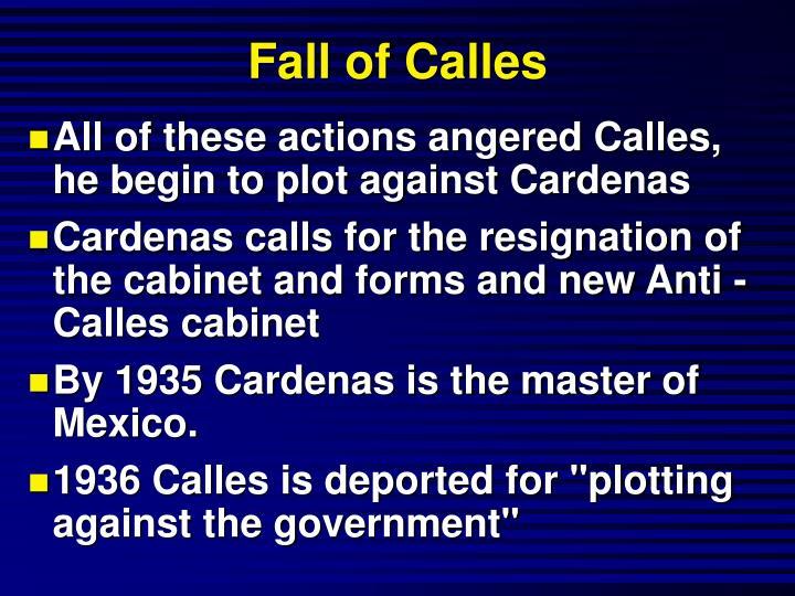 Fall of Calles