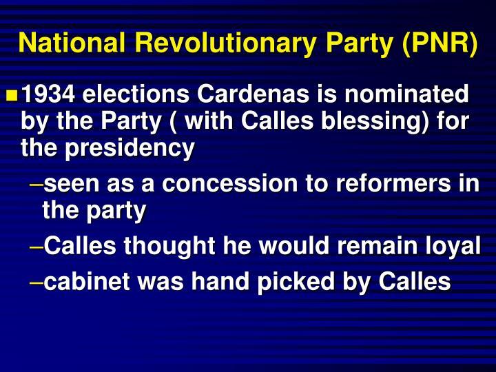 National Revolutionary Party (PNR)