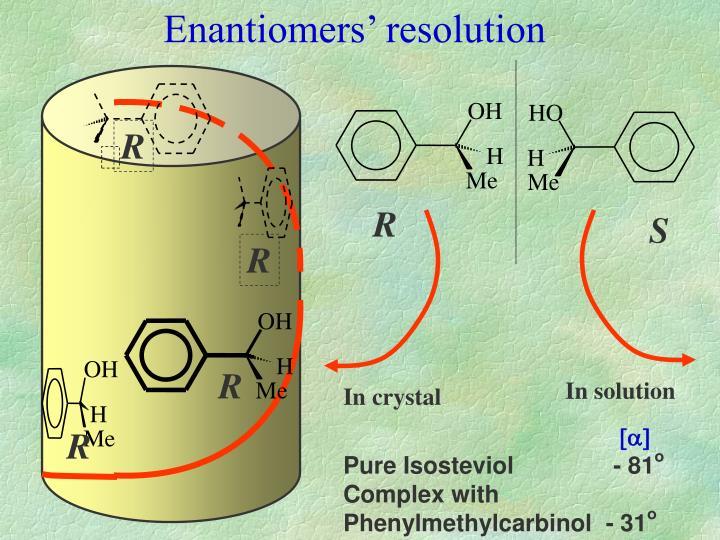 Enantiomers' resolution
