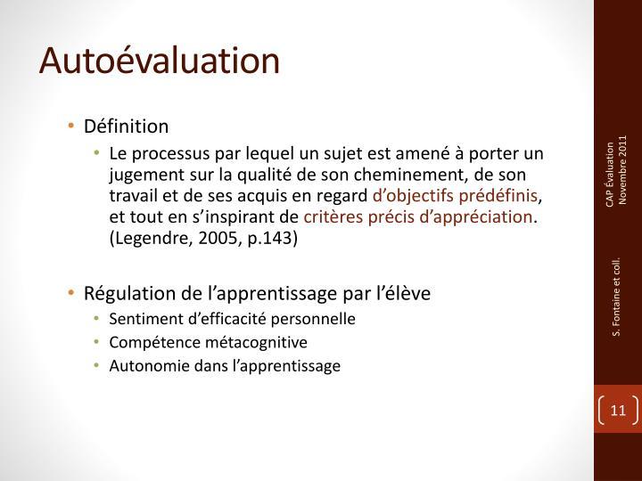 Autoévaluation