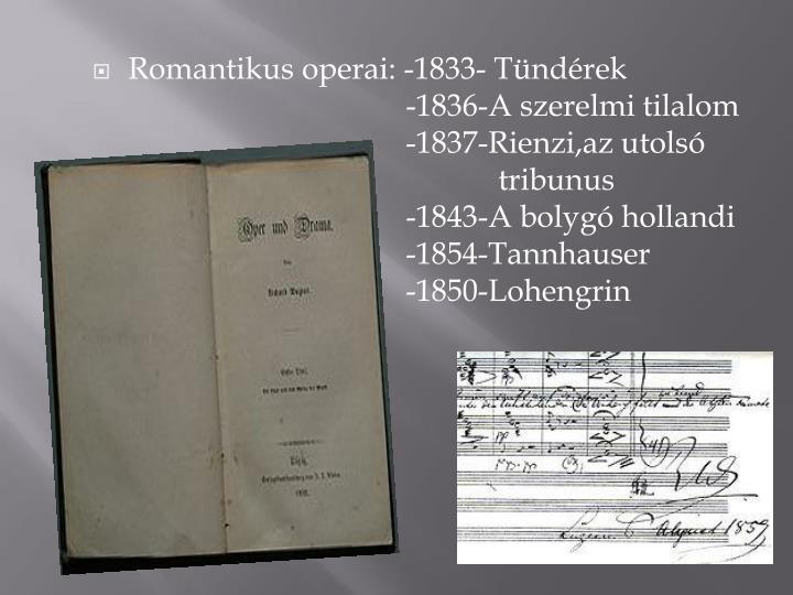 Romantikus operai: -1833-