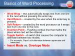 basics of word processing