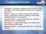 professional formats1