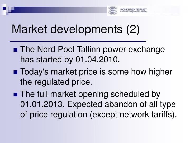 Market developments 2
