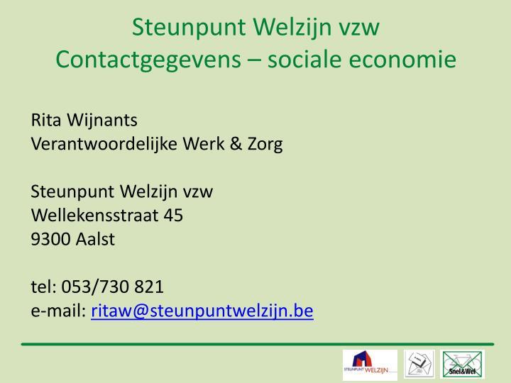 Steunpunt Welzijn vzw