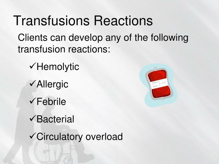 Transfusions Reactions
