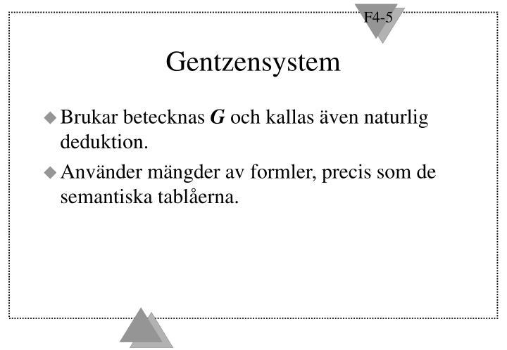 Gentzensystem