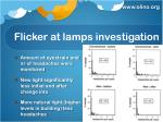 flicker at lamps investigation1