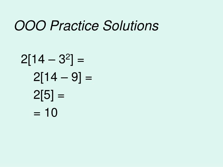 OOO Practice Solutions