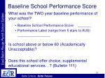baseline school performance score