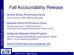 fall accountability release