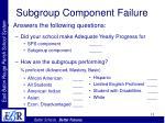 subgroup component failure