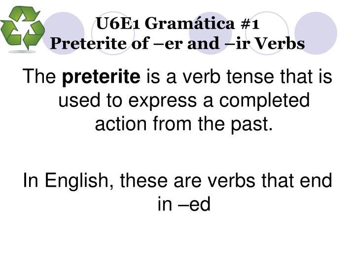 U6E1 Gramática #1