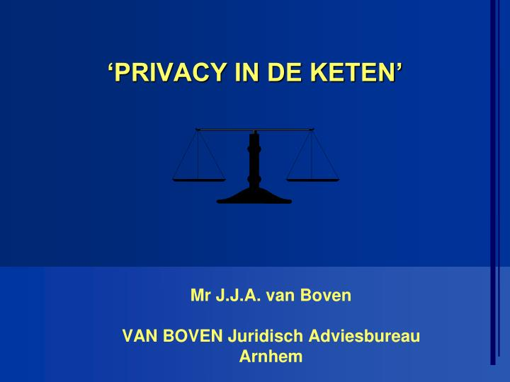 Privacy in de keten
