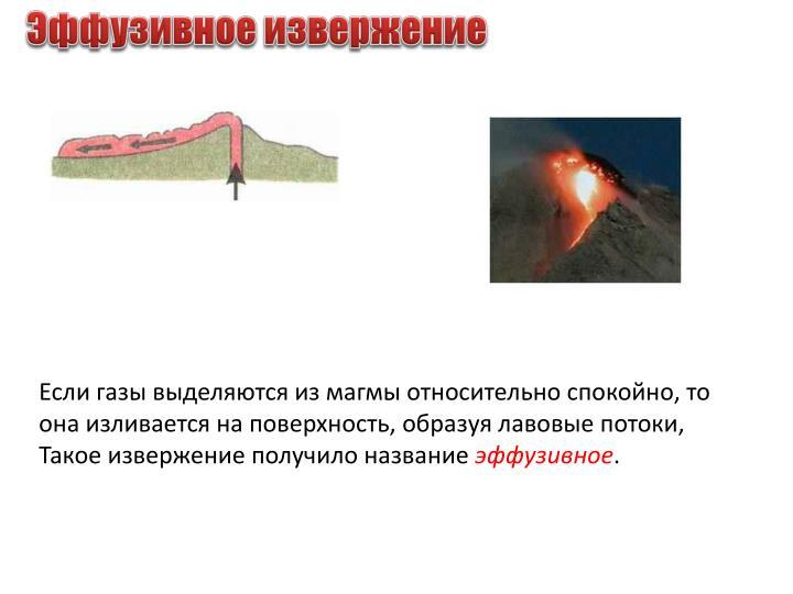 Эффузивное извержение