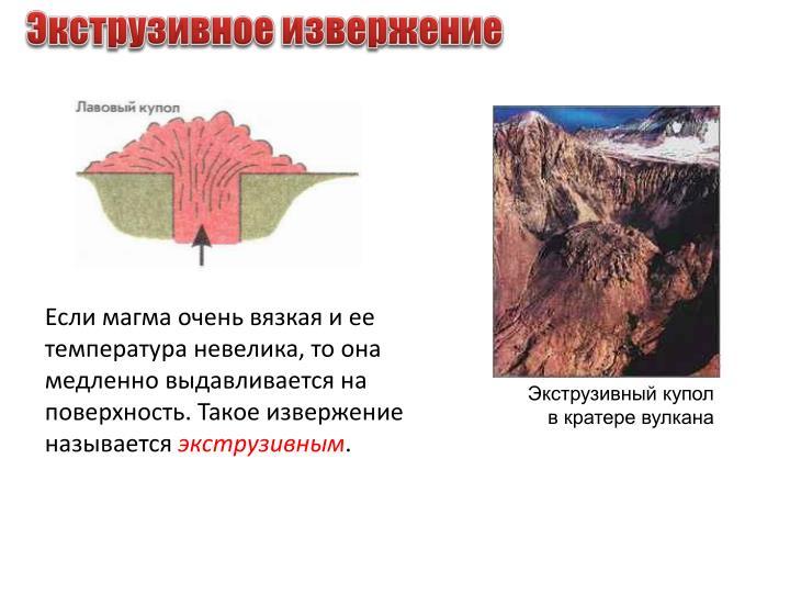 Экструзивное извержение