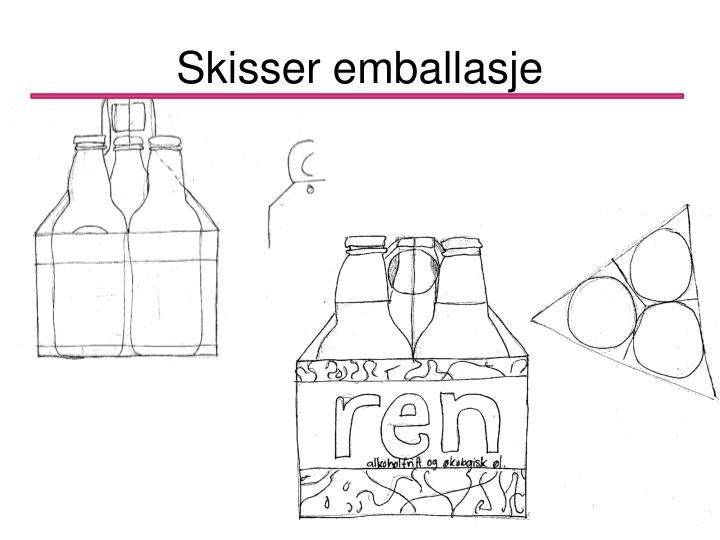 Skisser emballasje