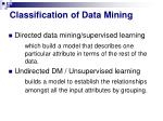 classification of data mining