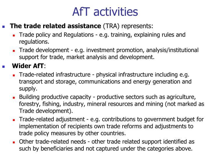 AfT activities
