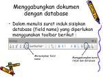 menggabungkan dokumen dengan database
