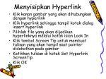 menyisipkan hyperlink