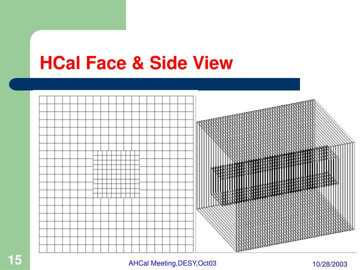 HCal Face & Side View