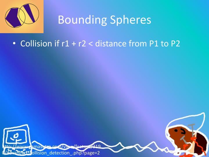 Bounding Spheres