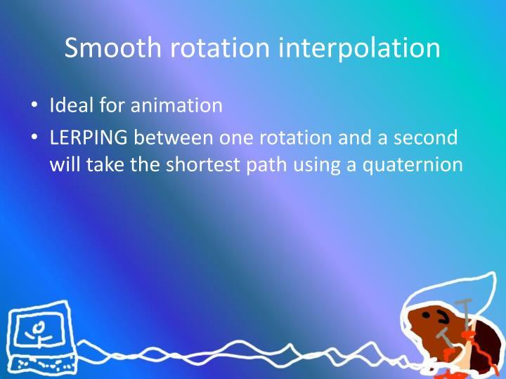 Smooth rotation interpolation