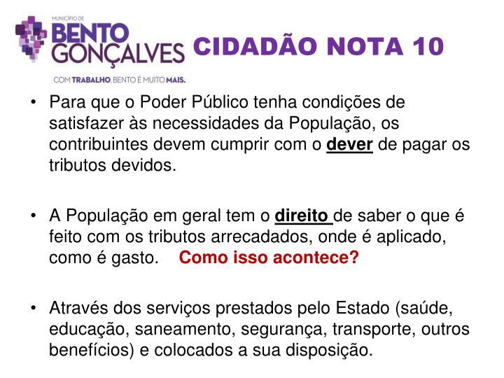 CIDADÃO NOTA 10
