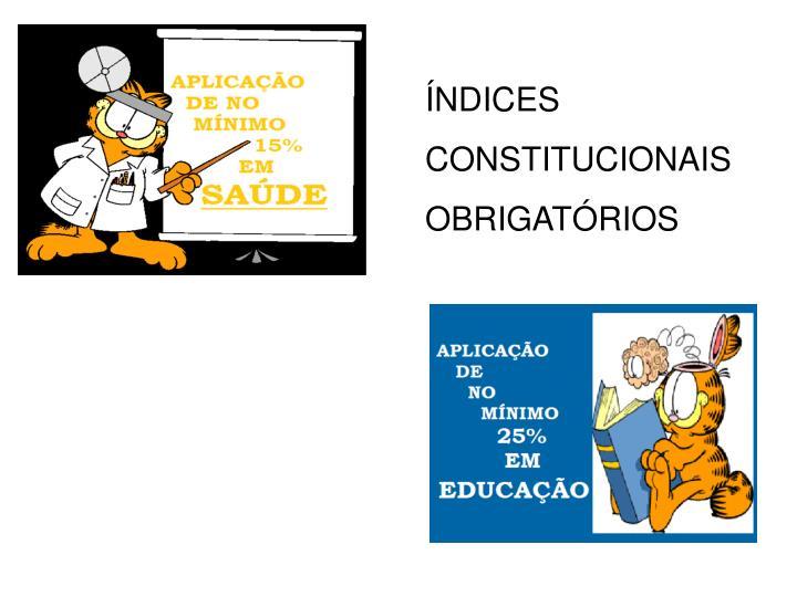 ÍNDICES CONSTITUCIONAIS OBRIGATÓRIOS