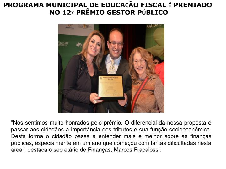 PROGRAMA MUNICIPAL DE EDUCA