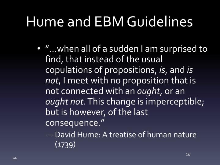 Hume and EBM Guidelines