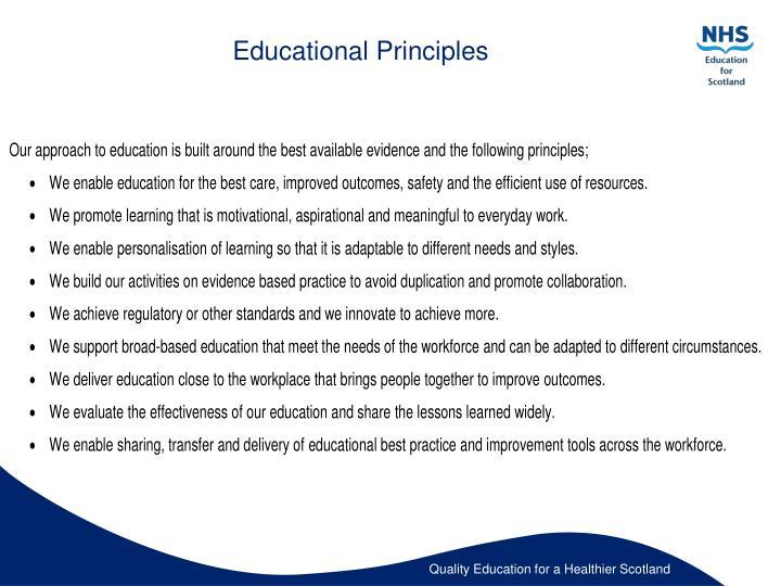 Educational Principles