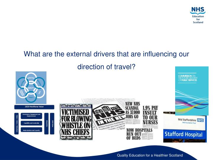 What are the external drivers that are influencing our direction of travel?