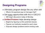designing programs1