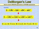 demorgan s law