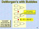 demorgan s with bubbles